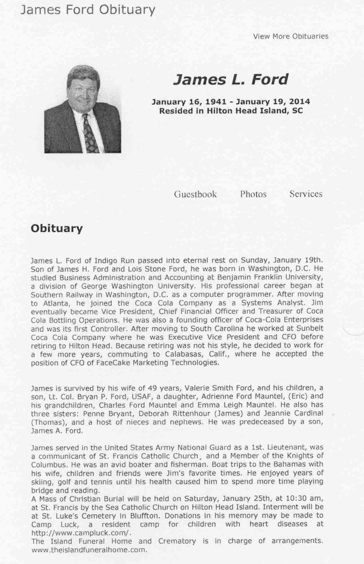 Ford, James L., obituary - 001
