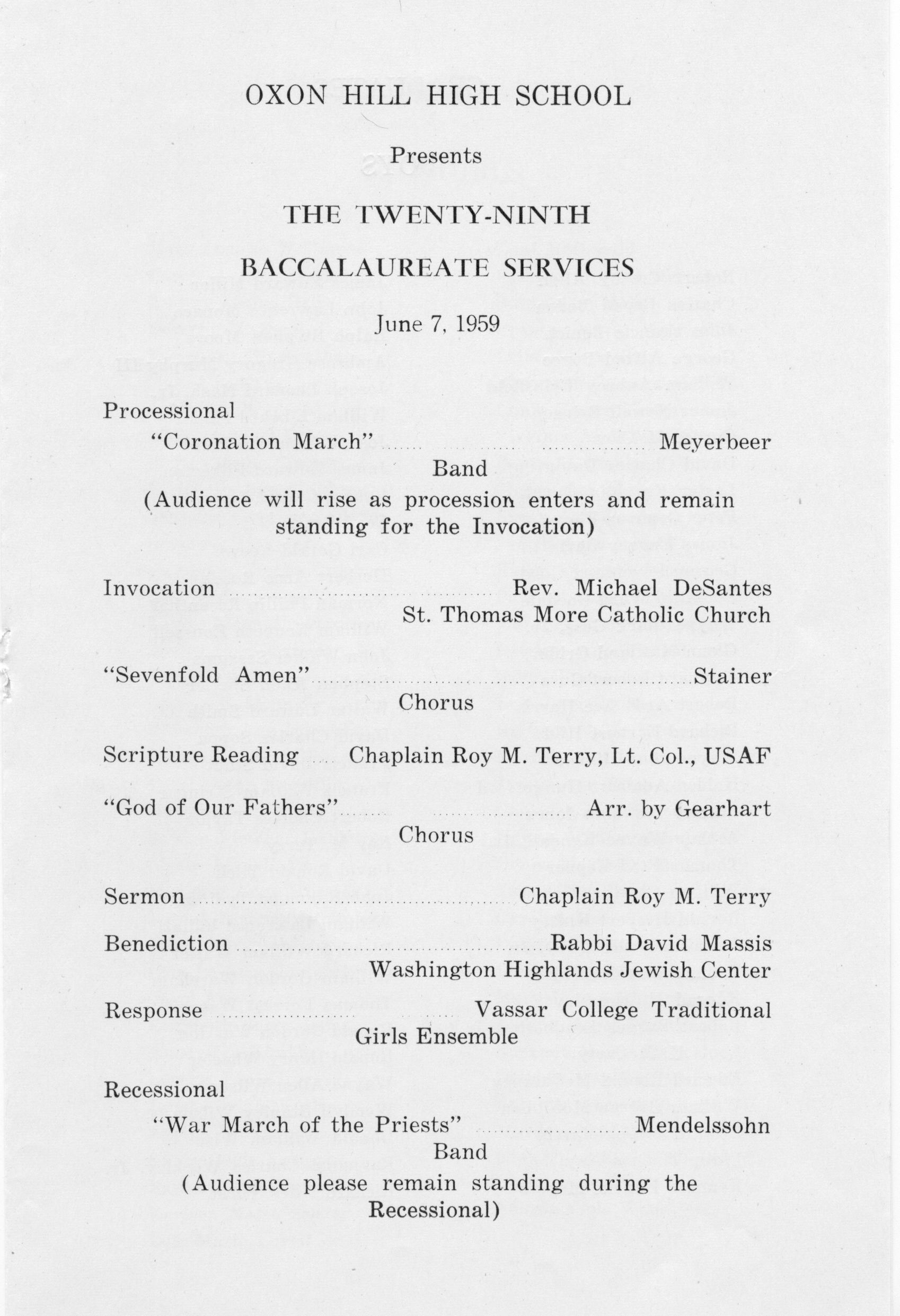OHHS 1959 Baccalaureate - 002